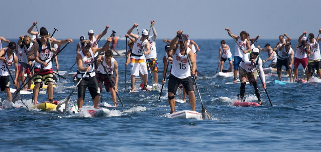 Practice of racing SUP